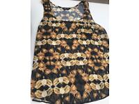 Sleeveless top size:12