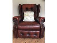 Lazy boy reclining leather armchair