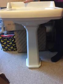 Sink pedestal brand. New £50 have few sinks for sale