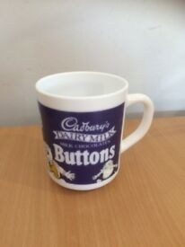 Vintage Cadbury's Buttons Mug, collectables.