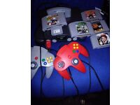 nintendo 64 with 2 controllers 6 games