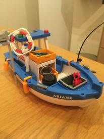 Playmobil fishing boat - REDUCED TO £5