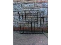 Metal heart garden gate iron