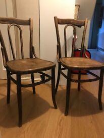 Wooden Chairs x2. Need repair / restoration