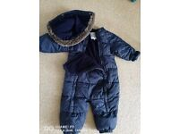 all in one winter suit blue 12-18 months