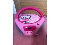 Hello Kitty CD player with radio