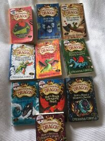 Cressida Cowell How to Train your Dragon series 10 books