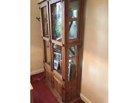 Rustic Solid Wood Display Cabinet