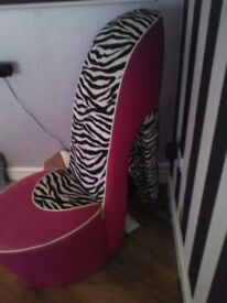 Stiletto shoe chair immaculate condition