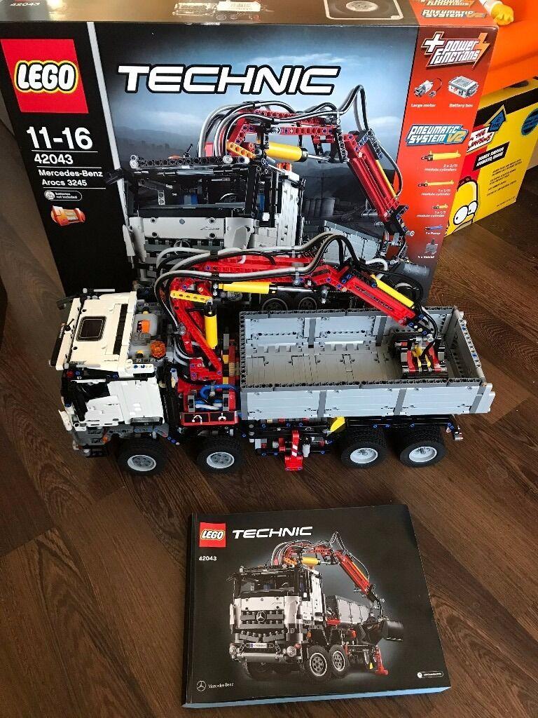 Lego Technics 42043 Mercedes Benz Arocs 3245 Complete With Box