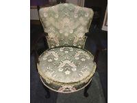 Appealing Mahogany Framed Vintage Bedroom/Tub Easy Armchair on Queen Anne Legs