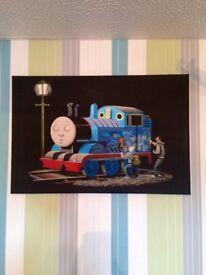 Thomas the tank canvas.