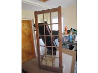 REAL SOLID WOOD DOOR – with space for 15 glazed panes