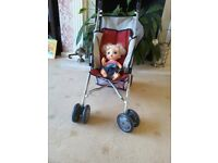 Brand new dolls stroller/pushchair made in Germany.