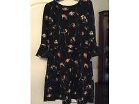 Next dress size 12 - Tulip design on black dress
