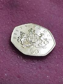 50p coin Ironsides Christopher 2013.