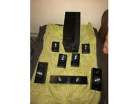 Samsung 7.1 Surround Sound Speakers and subwoofer