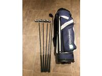 Donnay golf clubs with bag
