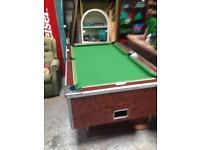 Pool table slate bed