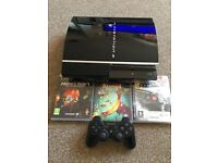PS3 160gb with 3 games including mine craft