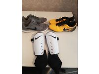 Nike magista boots/ nike trainers/ shin pads