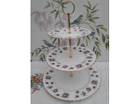 "Royal Albert ""Sweet Violets"" XL 3-tier cake stand"