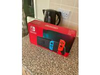 nintendo switch neon red and blue brand new