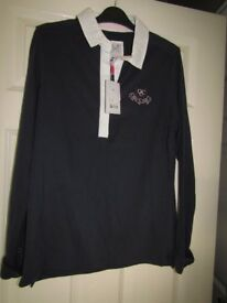 LADIES CREW RUGBY TOP SIZE 14 RRP£52 NEW WITH TAGS