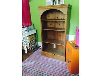 Lovely hand made oak ( I think) shelf unit 59 h 30w 9deep in great condition a real must see