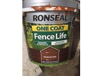 Ronseal fence life - medium oak (read description)