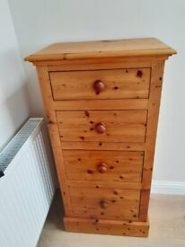 reclaimed pine chest of drawers, hand made by artist