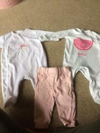 Baby bundle of clothes 0-3 and 3-6 months