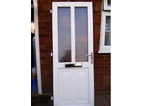 Front Door white Upvc as new condition.