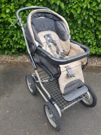 """REDUCED Classic """"Mamas & Papas"""" modular stroller / pushchair, pneumatic tyres for town/light offroad"""