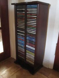 Mahogany finish CD storage rack