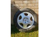 1x Vauxhall zafira alloy wheel with tyre
