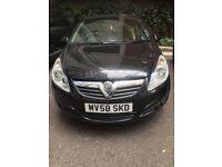 Vauxhall Corsa 1.2 Eco Flex diesel Black 2008 £1550 O.N.O