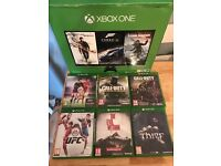 Xbox one boxed with 6 games