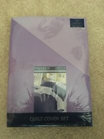 Lilac and purple king size duvet cover