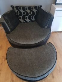 DFS cuddle swivel chair