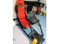 GT omega racing seat and steering wheel setup XBOX ONE