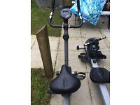 Exercise bike/rowing machine