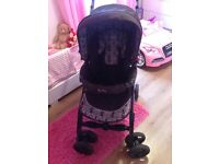 Silver cross travel system with car seat bag and rain cover £100