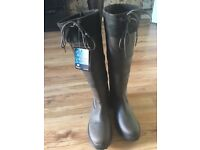 Rhinestone riding boots brand new