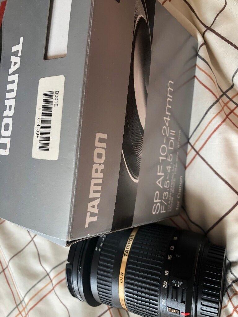 Tamron SP AF 10-24mm Lens EF fit w/filter and box | in Shepherds Bush,  London | Gumtree