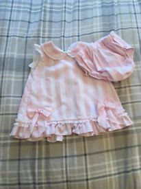 Girls pink & white pretty originals outfit