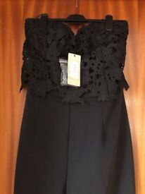 Lipsy Black Jump Suit size 14