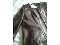 Ladies leather Coat , Size 16/18