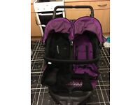 Purple double v4 out and about pushchair excellent condition