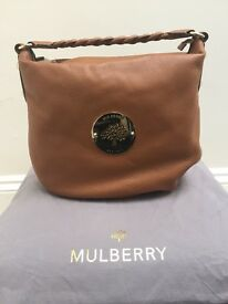 New Mulberry Daria Hobo Handbag Oak. Receipt can be provided. Still has protective plastic on brass.